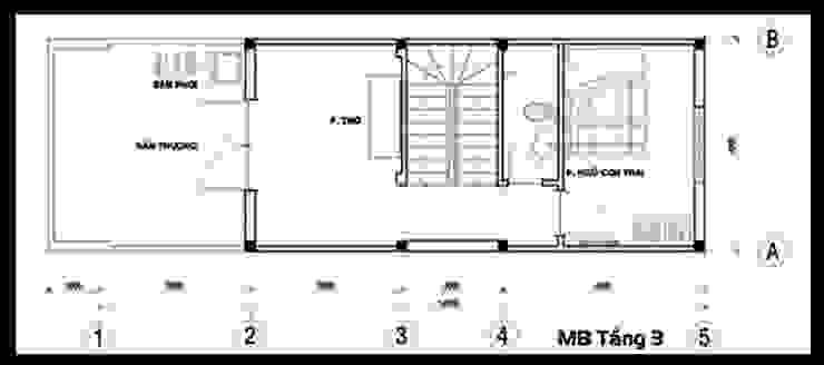 Bản vẽ mặt bằng tầng 3 bởi Công ty TNHH TK XD Song Phát Châu Á Đồng / Đồng / Đồng thau