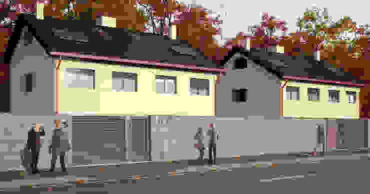 Vista exterior 2 Casas de estilo moderno de A3D INFOGRAFIA Moderno