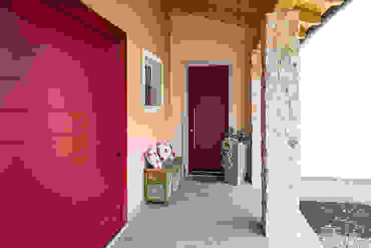 Woodbau Srl Front doors Wood Red