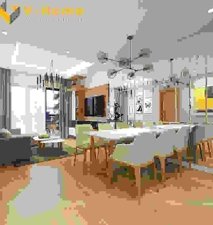 Chung cư Golden Field, Mỹ Đình, Từ Liêm, Hà Nội Phòng ăn phong cách hiện đại bởi Công ty CP Kiến trúc V-Home Hiện đại