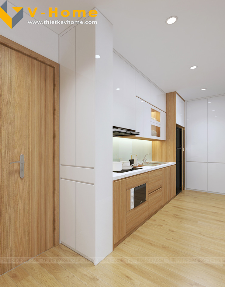 Chung cư Golden Field, Mỹ Đình, Từ Liêm, Hà Nội Nhà bếp phong cách hiện đại bởi Công ty CP Kiến trúc V-Home Hiện đại