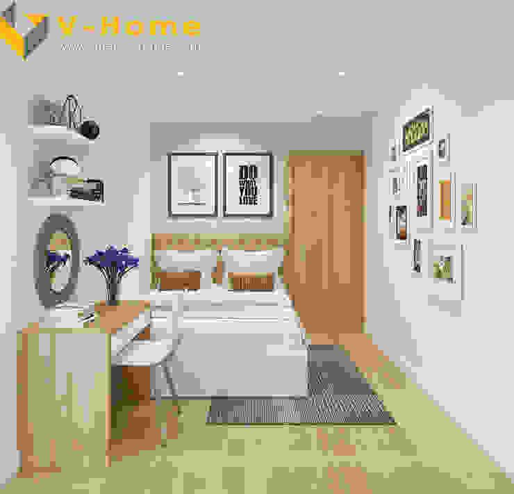 Chung cư Golden Field, Mỹ Đình, Từ Liêm, Hà Nội Phòng ngủ phong cách hiện đại bởi Công ty CP Kiến trúc V-Home Hiện đại
