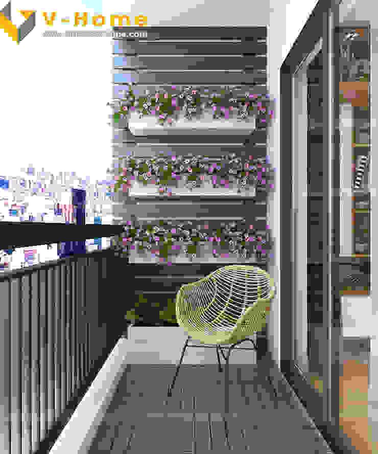Chung cư Golden Field, Mỹ Đình, Từ Liêm, Hà Nội Hiên, sân thượng phong cách hiện đại bởi Công ty CP Kiến trúc V-Home Hiện đại