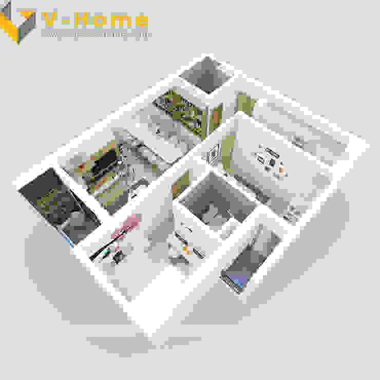 Chung cư Golden Field, Mỹ Đình, Từ Liêm, Hà Nội: hiện đại  by Công ty CP Kiến trúc V-Home, Hiện đại
