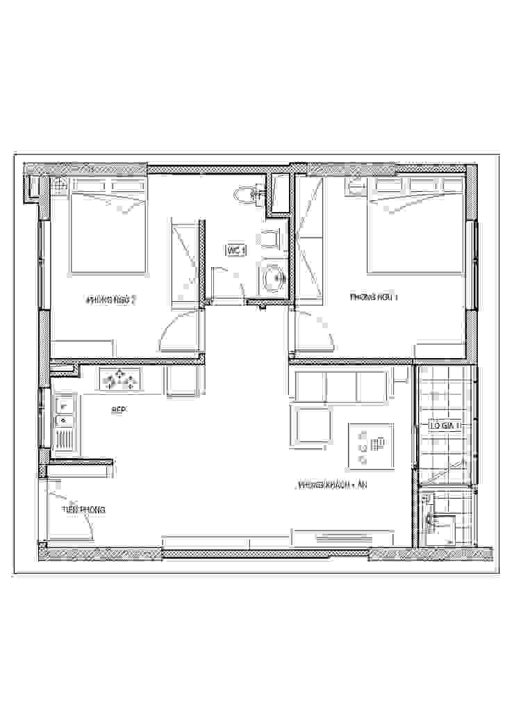 Thiết kế nội thất chung cư Mardarin garden 2, Hoà Phát – Chị An: hiện đại  by Công ty CP Kiến trúc V-Home, Hiện đại