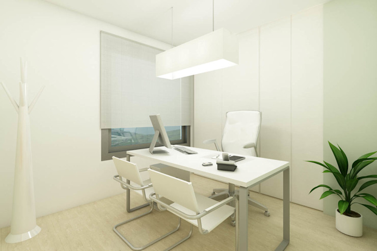 Consultório - Clinica no Porto - SHI Studio Interior Design ShiStudio Interior Design Escritórios escandinavos