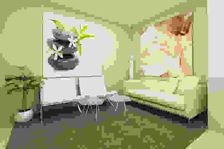 Oficinas y bibliotecas de estilo moderno de ShiStudio Interior Design Moderno