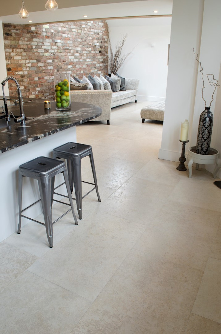 Contempoary Home: Florence Limestone Quorn Stone Modern kitchen Limestone