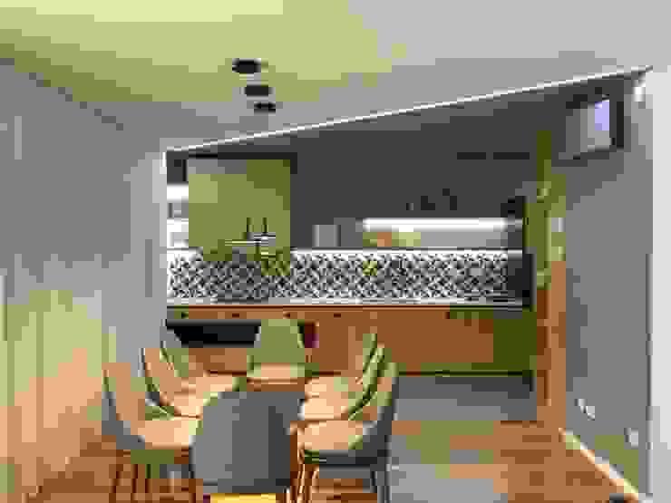 Traços Interiores ComedorIluminación Aluminio/Cinc Negro