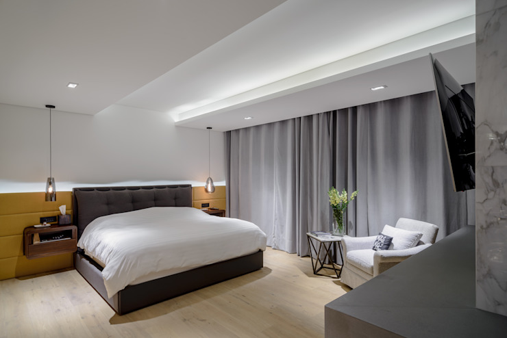 NIVEL TRES ARQUITECTURA Modern style bedroom Wood Grey