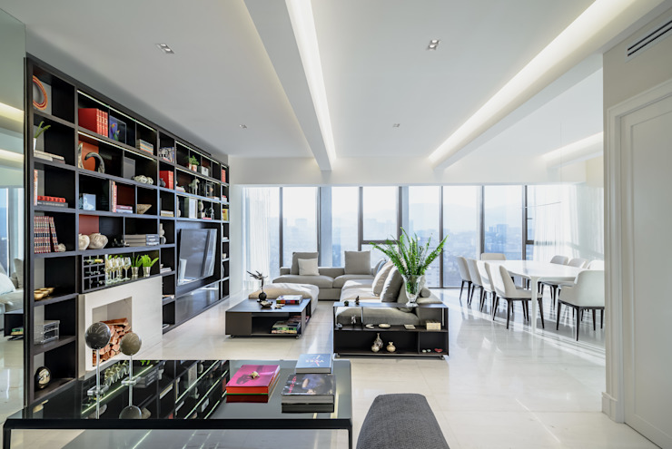 Modern living room by NIVEL TRES ARQUITECTURA Modern Marble