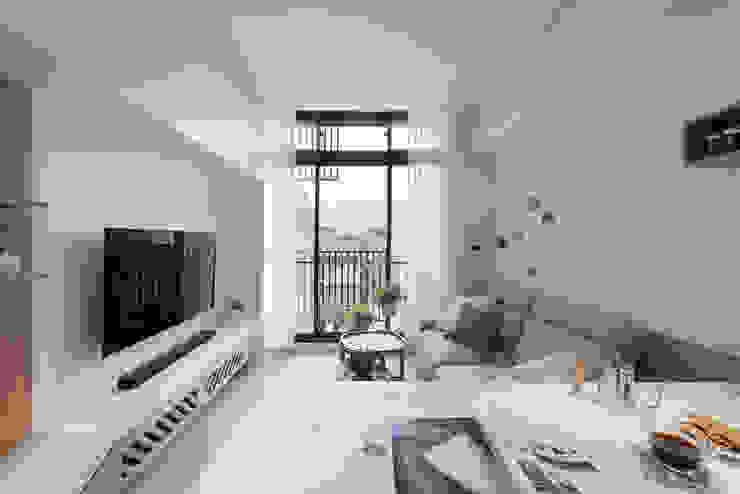 早安,日和! 现代客厅設計點子、靈感 & 圖片 根據 寓子設計 現代風