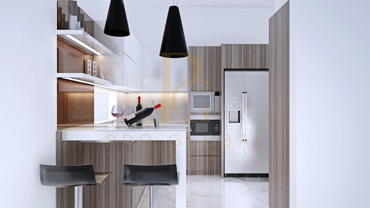 Kitchen Area Oleh homify Minimalis Kayu Wood effect