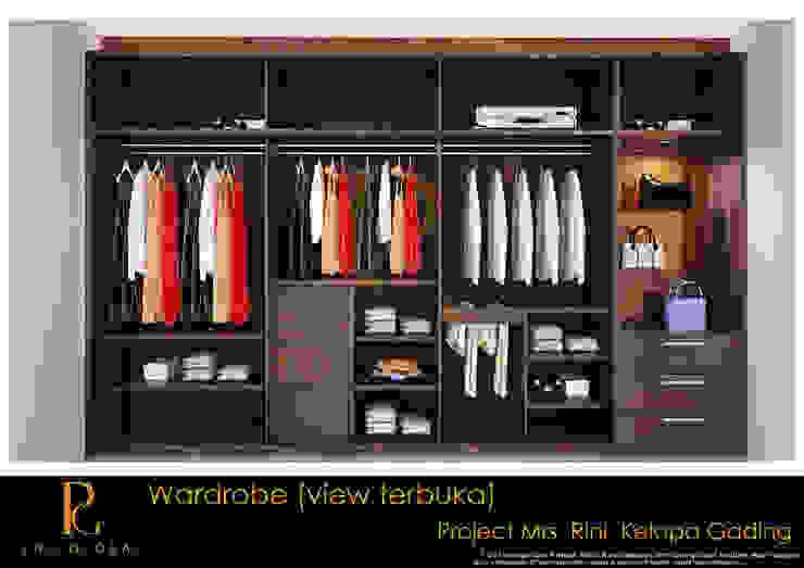 Wardrobe (Inside View) Oleh homify Minimalis Kayu Wood effect