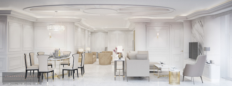 Salas multimédia clássicas por Charrette Studio Co., Ltd. Clássico