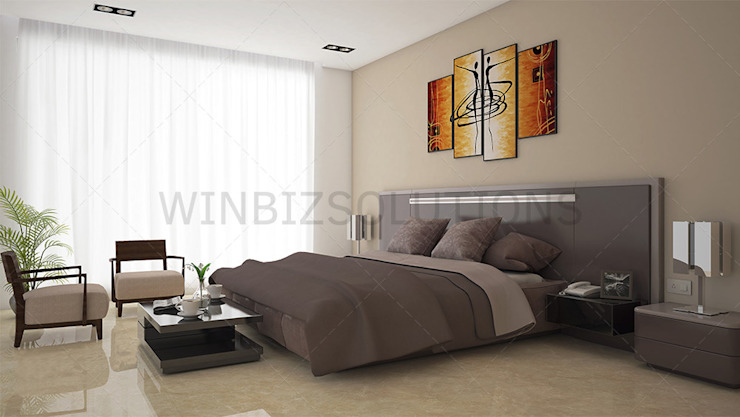 3D Bed room interior design: classic  by winbizsolutions,Classic