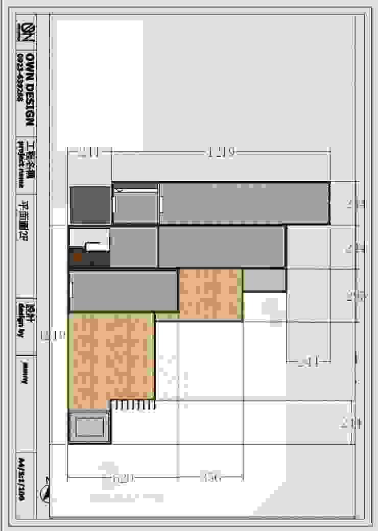 2樓平面圖: 產業  by OWN DESIGN, 工業風