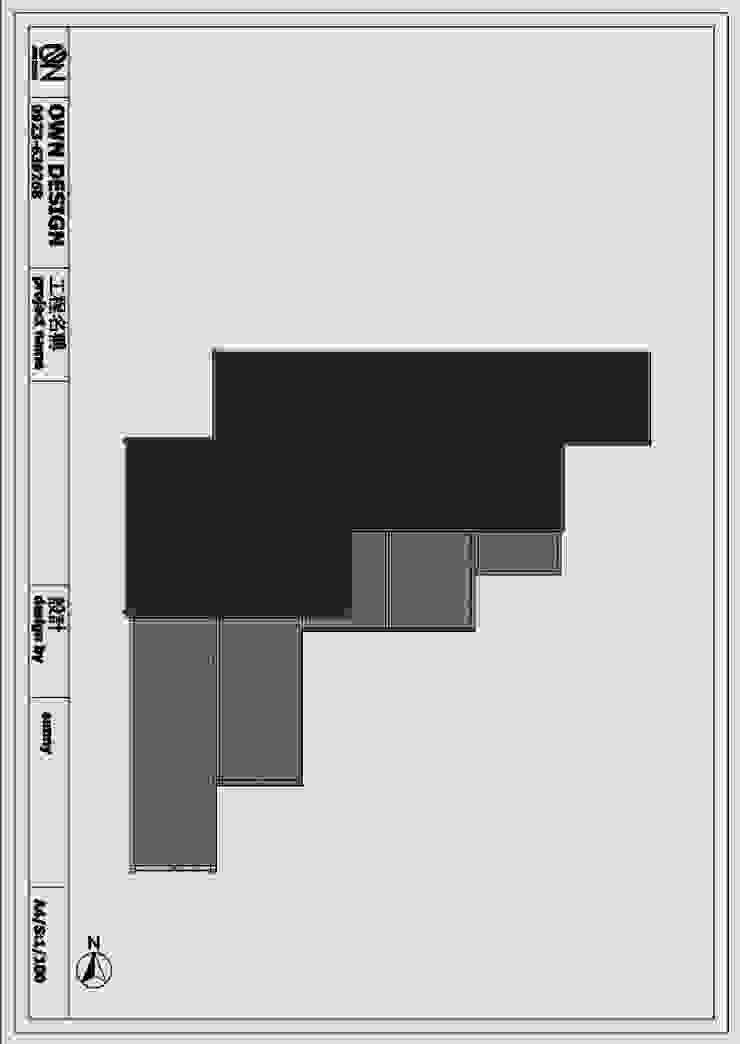 屋頂平面圖: 產業  by OWN DESIGN, 工業風