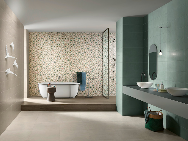 Splash Baños de estilo industrial de Love Tiles Industrial