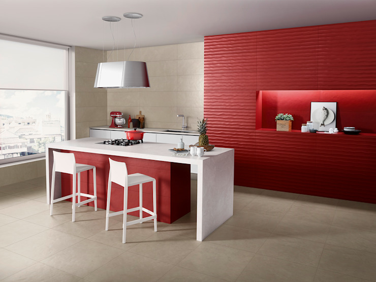 Splash Love Tiles Cocinas de estilo industrial