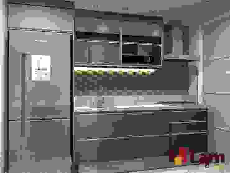 Apto. Pq. São Domingos Cozinhas modernas por LAM Arquitetura | Interiores Moderno