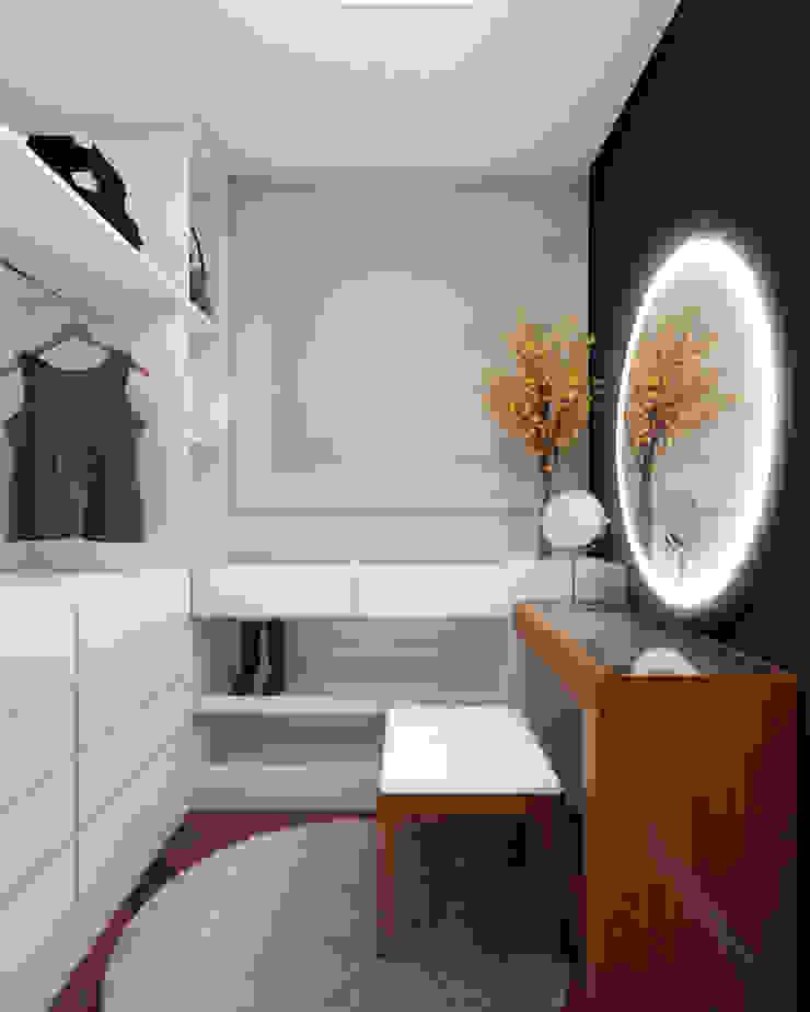 RAFE Arquitetura e Design Minimalist dressing room MDF Black