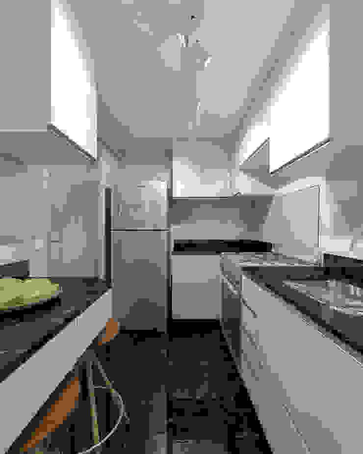 RAFE Arquitetura e Design Kitchen units Marble Black