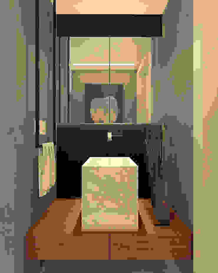 RAFE Arquitetura e Design Minimalist style bathroom Marble Black