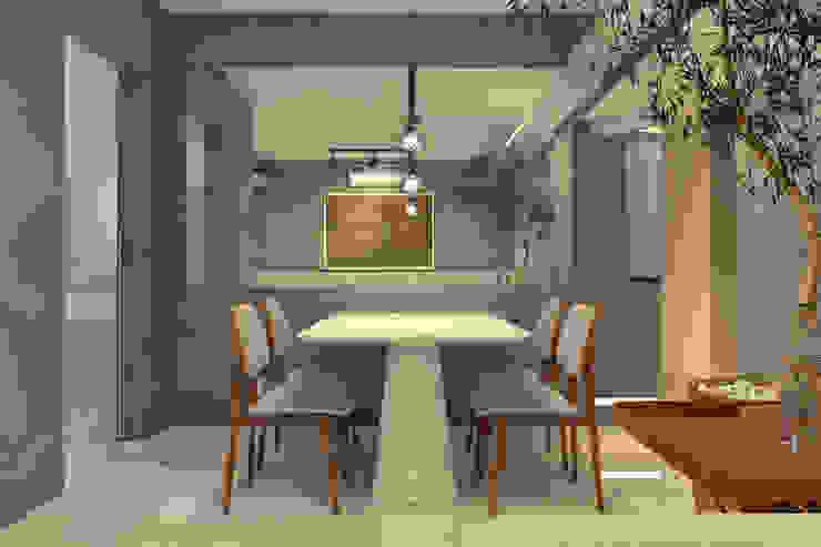 RAFE Arquitetura e Design Minimalist dining room Concrete Grey