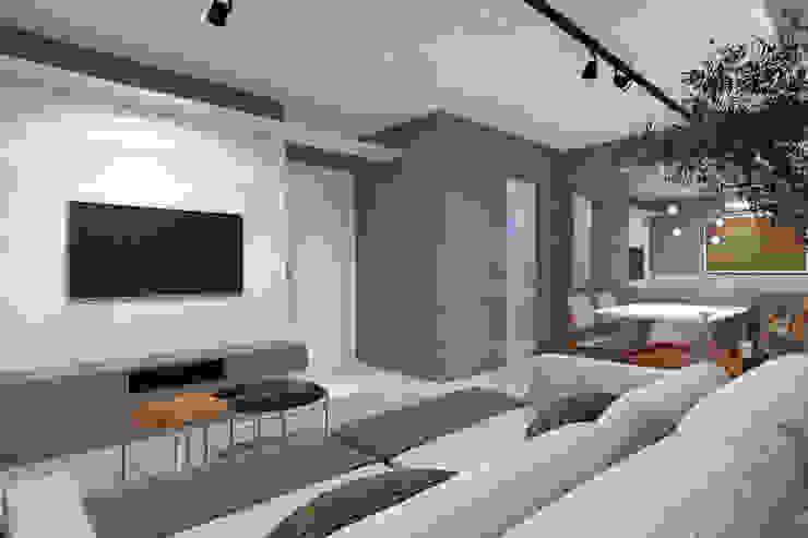 RAFE Arquitetura e Design Living room MDF Grey