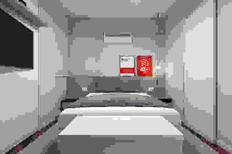 RAFE Arquitetura e Design Minimalist bedroom MDF Grey