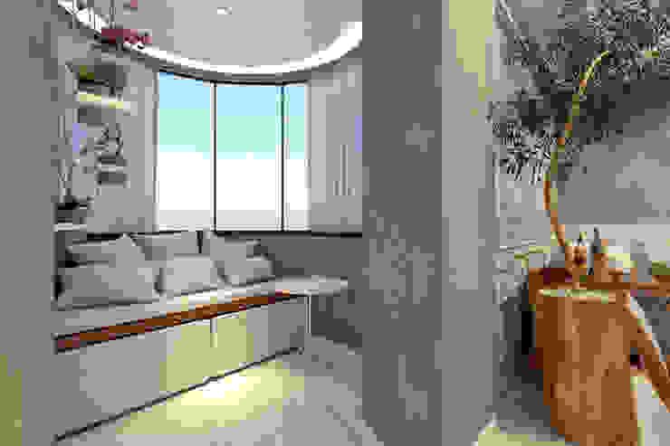 RAFE Arquitetura e Design Living room Concrete Grey
