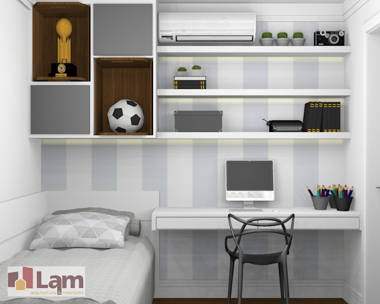 Modern Bedroom by LAM Arquitetura | Interiores Modern