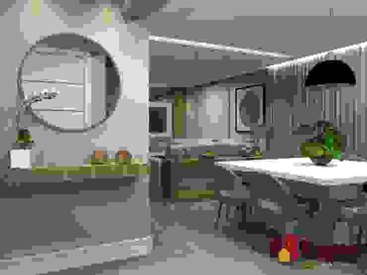 DOMO HOME- SBC LAM Arquitetura | Interiores Corredores, halls e escadas modernos