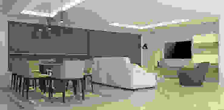 La Llovizna Modern Living Room by Spazio Design Modern