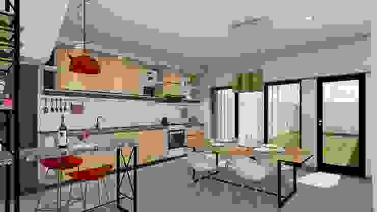 Vivienda en Duplex ARBOL Arquitectos Comedores modernos
