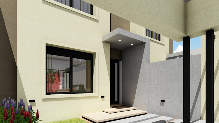 Vivienda en Duplex ARBOL Arquitectos Puertas modernas
