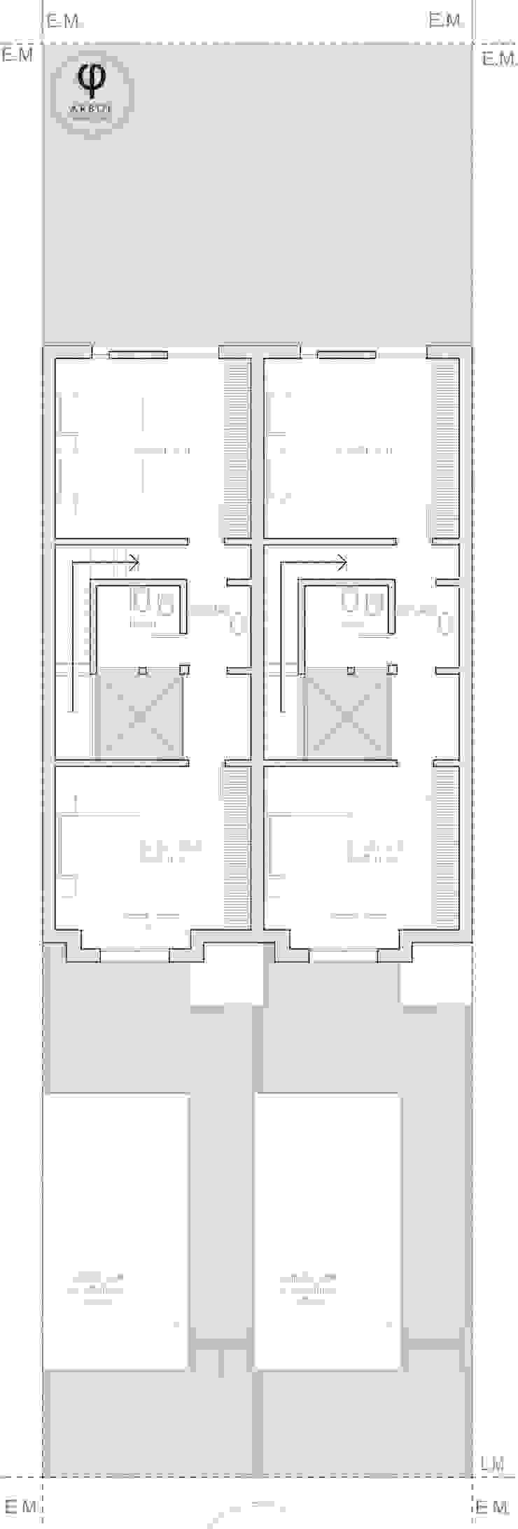 planta alta duplex ARBOL Arquitectos Casas modernas: Ideas, imágenes y decoración