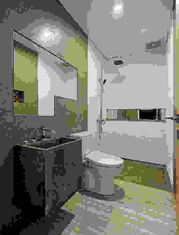 Khu vực vệ sinh với nội thất tiện nghi. Phòng tắm phong cách châu Á bởi Công ty TNHH TK XD Song Phát Châu Á Đồng / Đồng / Đồng thau