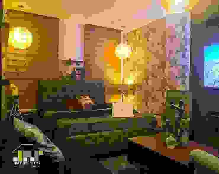 Boy's Bedroom Bachelors Pad Minimalist bedroom by JPS Interior Designs Minimalist Solid Wood Multicolored