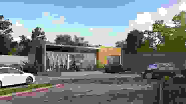 Design Exterior Marketing Gallery Bangunan Kantor Gaya Asia Oleh Roemah Cantik Asia Batu Bata