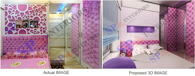 Mr. Gandhi SP INTERIORS Classic style bedroom