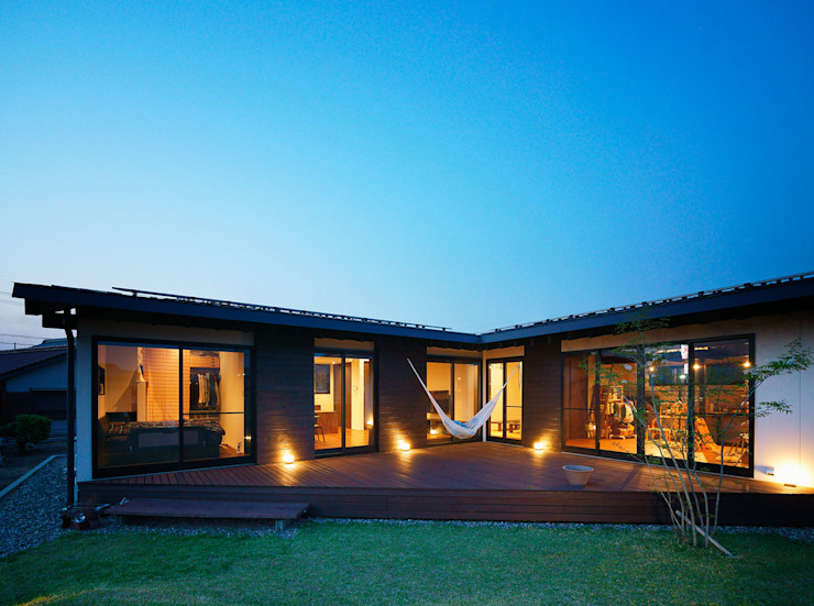 Asian style garden by H建築スタジオ Asian