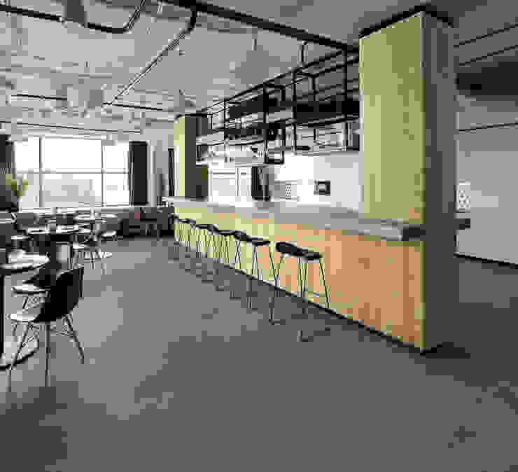Edge Cocinas de estilo industrial de Margres Industrial