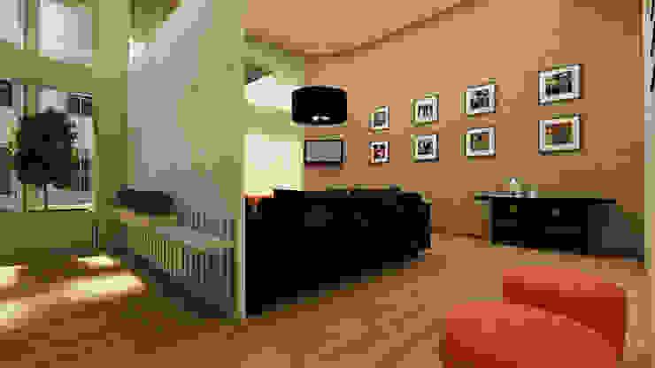 Pasillos, vestíbulos y escaleras de estilo moderno de SHI Studio, Sheila Moura Azevedo Interior Design Moderno