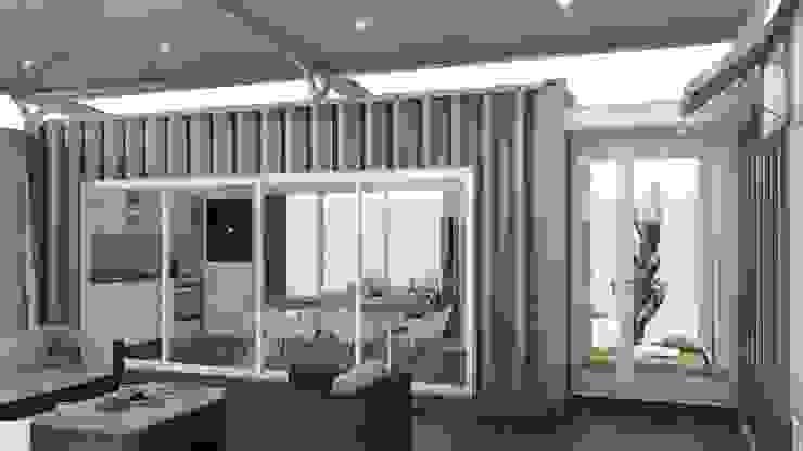 غرفة المعيشة تنفيذ ARBOL Arquitectos