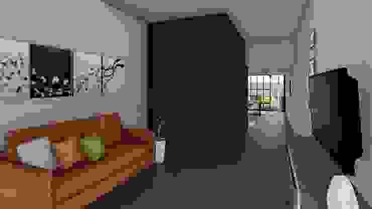 Remodelacion y ampliación Vivienda Moderna/Industrial Livings modernos: Ideas, imágenes y decoración de ARBOL Arquitectos Moderno