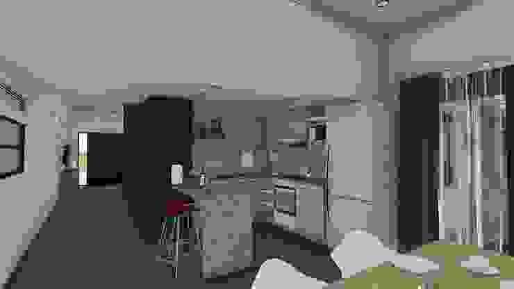 Remodelacion y ampliación Vivienda Moderna/Industrial Cocinas modernas: Ideas, imágenes y decoración de ARBOL Arquitectos Moderno