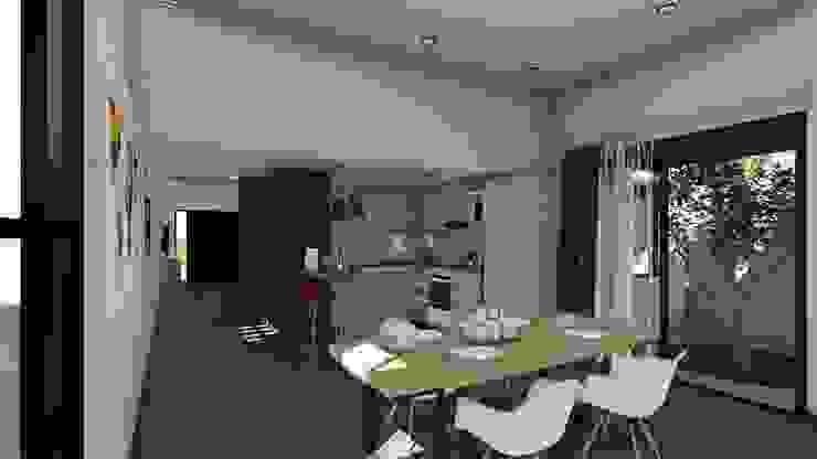 Remodelacion y ampliación Vivienda Moderna/Industrial Comedores escandinavos de ARBOL Arquitectos Escandinavo