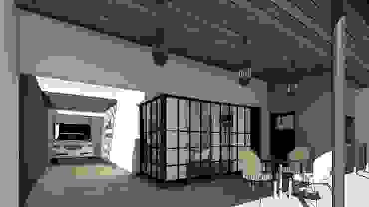 Remodelacion y ampliación Vivienda Moderna/Industrial Jardines de invierno industriales de ARBOL Arquitectos Industrial